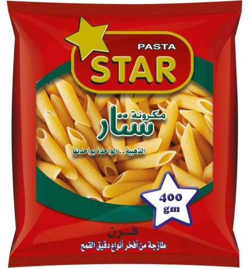 Star Pasta Penne , 10mm - 400g